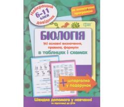 Біологія в таблицях і схемах 6-11 клас (найкращий довідник ЗНО (ДПА) + шпаргалка у подарунок) авт. Євсєєв вид. Торсінг