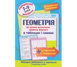 Геометрія в таблицях і схемах 7-9 клас (найкращий довідник ЗНО (ДПА) + шпаргалка у подарунок) авт. Лебеденко вид. Торсінг
