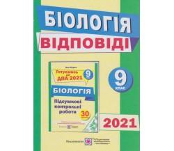 Відповіді до збірника завдань біологія 9 клас ДПА 2021 авт. Барна вид. Підручники і посібники